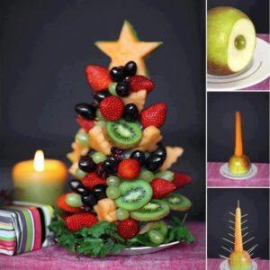 Juletre av frukt