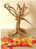 Papir som blir til et tre.