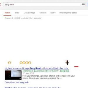 Redd søkeresultatet på google