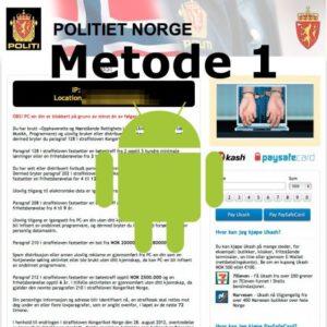 Hvordan bli kvitt ukash-viruset på din mobiltelefon: Metode 1